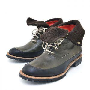 Turn Up Knit Designer Desert Boots-Shoes 350