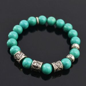 Turquoise Gemstone Beads-Bracelet 177