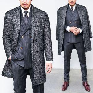 Double Quilting Tweed Overcoat-Coat 75