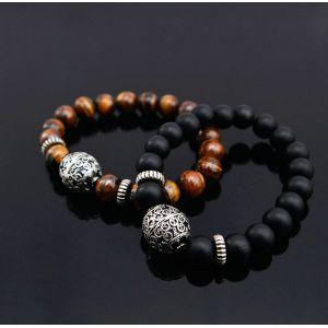 Oriental Antique Silver Charm Beads-Bracelet 179