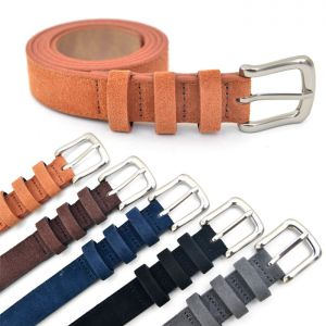 European Chic Urban Thin Suede-Belt 115