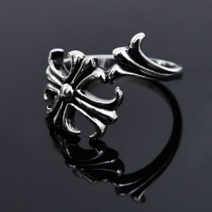 Stainless Steel Gothic Flower-Ring 43