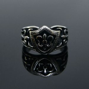 Stainless Steel Gothic Crown-Ring 44