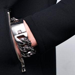 Stainless Big Lizard Chain Cuff-Bracelet 191