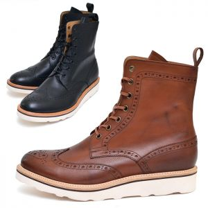 Light-weight Compress Sole Wingtip Boots-Shoes 390