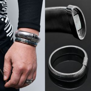 Stainless Steel Magnetic Wrinkle Cuff-Bracelet 196