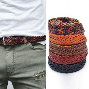 Leather Braided Versatile Mesh Belt-Belt 118