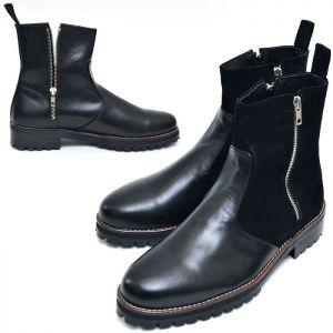 Zippered Custom Biker Boots-Shoes 389