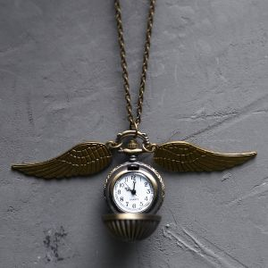 Vintage Wing Long Locket Watch-Necklace 182