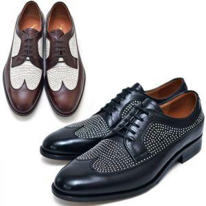 Silver Stud Slender Dylan Brouge-Shoes 396