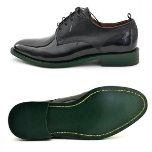 Green Sole Enamel Coating Oxford-Shoes 409