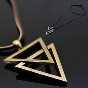 Vintage Double Metal Triangle-Necklace 190