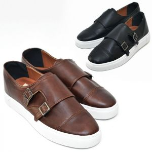 Smart Casual Leather Monk Sneakers-Shoes 413