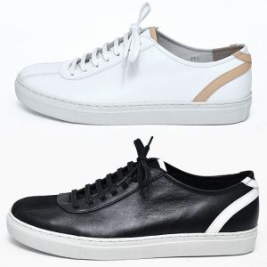 Stripe Accent Custom Leather Sneakers-Shoes 421