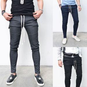 Slim Fit Seaming Biker Jersey-Sweatpants 203