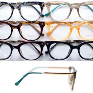 Bolt Rivet Gold Arm Glases-Glasses 21