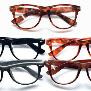 Wood Textured Silver Rivet Wayfarer-Glasses 22