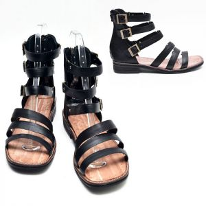 Three Buckle Gladiator Sandal-Shoes 432