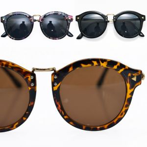 Euro Chic Rounded Gold Rivet-Sunglasses 73
