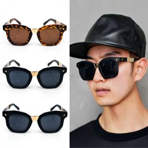 Lux Gold Metal Point Octagon-Sunglasse 75