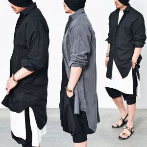 Avant-garde Oversized Long Shirt-Shirt 139