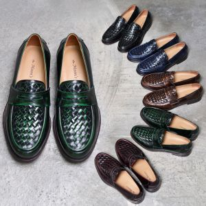 Premium Kipskin Braided Loafer-Shoes 452