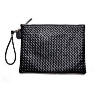 Leather Braided Handle Pouch-Bag 159