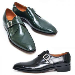 Polish Monk Strap Wingtip Oxford-Shoes 463