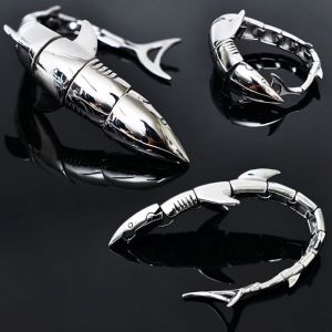 Full Shark Stainless Steel Cuff-Bracelet 225