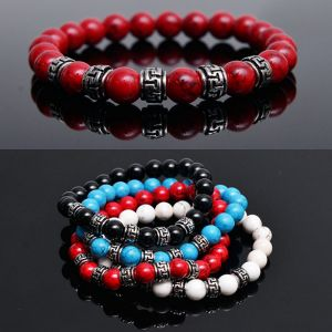 Color Onix Gemstone Beads-Bracelet 226