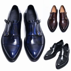 Top Notch Double Monk Brogue-Shoes 468
