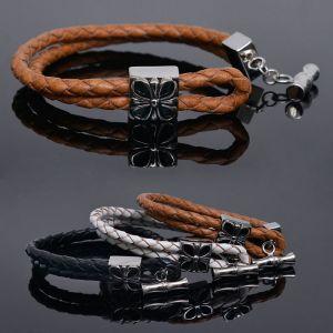 Lucky 4 Leaf Clover Braided Cuff-Bracelet 232