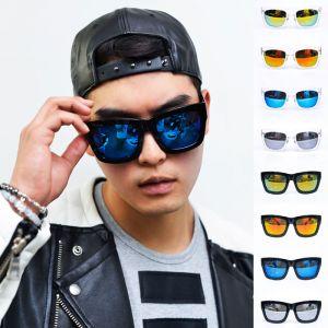 Oversized Cyber Square Mirror-Sunglasses 86