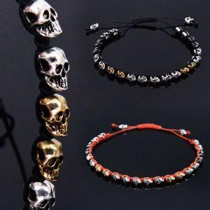 Multi Gold Silver Mix Skull Cuff-Bracelet 240