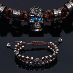 Blue Eye Robot Skull Cyber Cuff-Bracelet 245