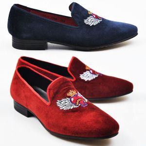 Lux Embrodiery Velvet Loafer-Shoes 146