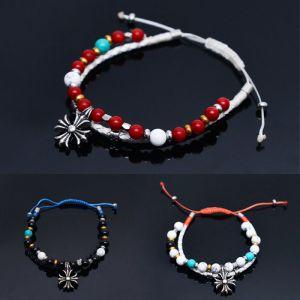 Multi Gemstone Braided Dual Tie-up-Bracelet 255