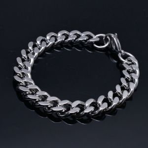 Swag Silver Metal Chain Cuff-Bracelet 268