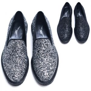 Glitter Encrusted Designer Slip On Loafer-Shoes 501