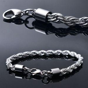 Unique Twine Silver Chain Cuff-Bracelet 274