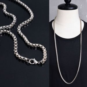 Unique Long Square Swag Chain-Necklace 243