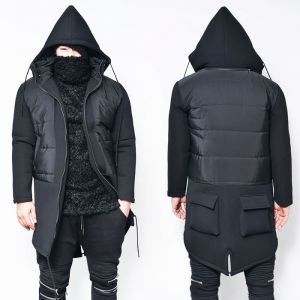 Cargo Back Pocket Detachable Hood Neoprene Jacket-Parka 43