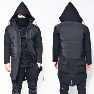 Cargo Back Pocket Detachable Hood Neoprene Jacket-Parka 43