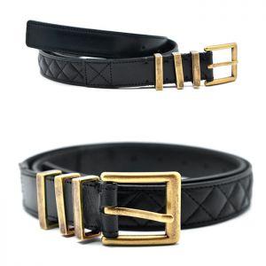 3 Ring Vintage Gold Buckle Quilting Belt-Belt 141
