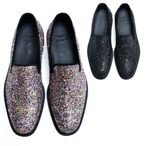 Lux Glittering Crystal Encrusted Loafer-Shoes 507