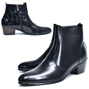 5cm heel Zip Mid Ankle Boots-Shoes 510