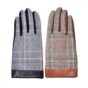 Checkered Fleece Lined Dandy Gloves-Gadget 58