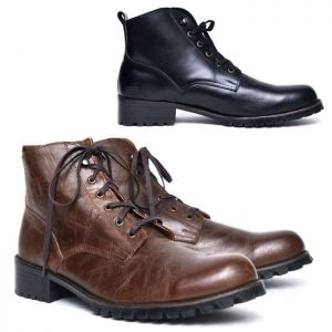 Vintage Calf Mid-length Boots-Shoes 523