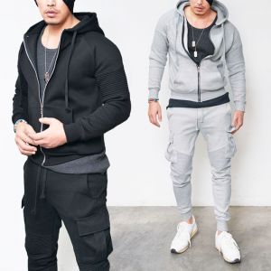 Biker Fleece Cargo Sweatpants-Gymwear 13