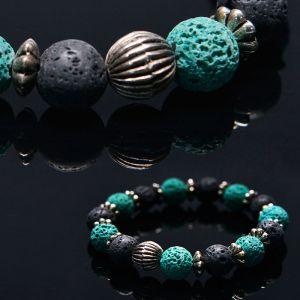 Real Volcano Stone Beads-Bracelet 289